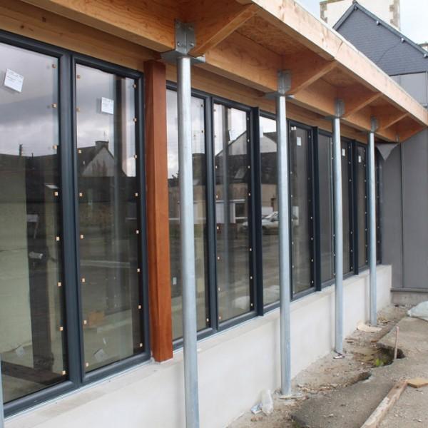 Baies vitrées aluminium- Salle polyvalente Carnoët